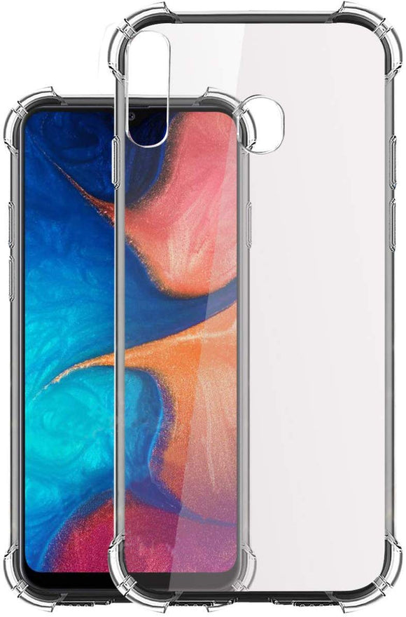 YOFO  Shockproof HD Transparent Back Cover for Samsung A20s (Transparent)