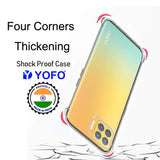 YOFO Rubber Back Cover Case for Oppo F17 Pro (Transparent) with Bumper Corner