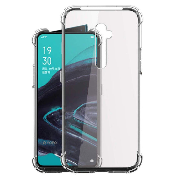 YOFO Shockproof Soft Transparent Back Cover for Oppo Reno 2 - (Transparent)