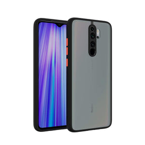 YOFO Matte Finish Smoke Back Cover with Full Camera Lens Protection for Mi Redmi Note 8 Pro