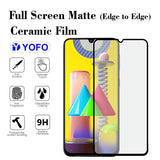 YOFO Mattte Finish Anti-Fingerprint Ceramic Flexible Screen Protector for Samsung F41 / M31 / M31 Prime