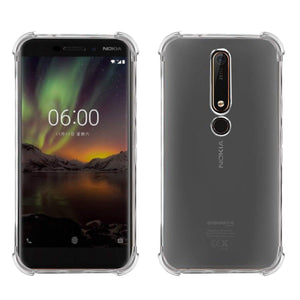 YOFO Ultra Thin Bumper Corners with Air Cushion Technology Back Cover For Nokia 6.1