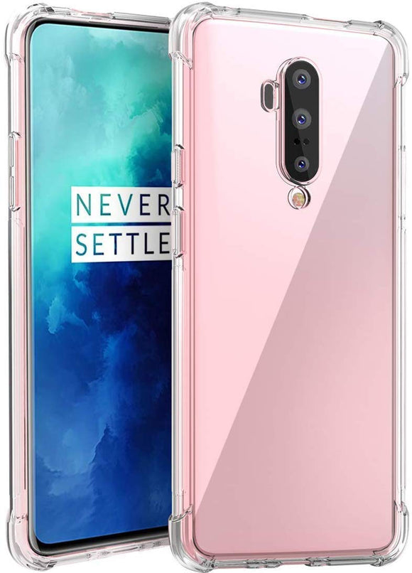 YOFO Shockproof Soft Transparent Back Cover for OnePlus 7T PRO (Transparent)