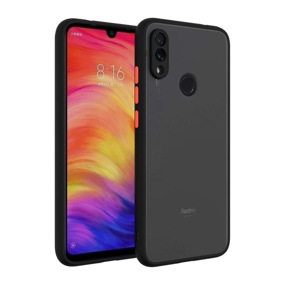 YOFO Matte Finish Smoke Back Cover with Full Camera Lens Protection for Mi Redmi Note 7 PRO