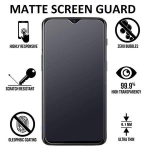 YOFO Anti Glare Matte Finish Anti-Fingerprint 9H Glass Screen Protector for MI Redmi 8A Dual(Transparent)