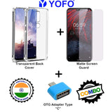 YOFO Combo for Nokia 6.1 Plus Transparent Back Cover + Matte Screen Guad with Free OTG Adapter