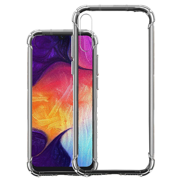 YOFO Shockproof Soft Transparent Back Cover for Samsung A30s - (Transparent)