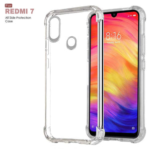 YOFO Transparent Back Cover for MI REDMI 7 (Transparent) All Sides Protection Case