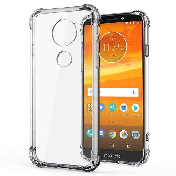 YOFO Silicon Shockproof Soft Transparent Back Cover for Motorola Moto E5+ (Plus) - (Transparent)