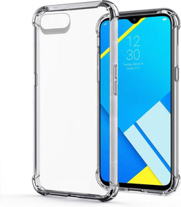 YOFO Rubber Shockproof Soft Transparent Back Cover for REALME C2 - All Sides Protection Case