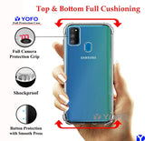 YOFO Shockproof Soft Transparent Back Cover for Samsung M30s - (Transparent)