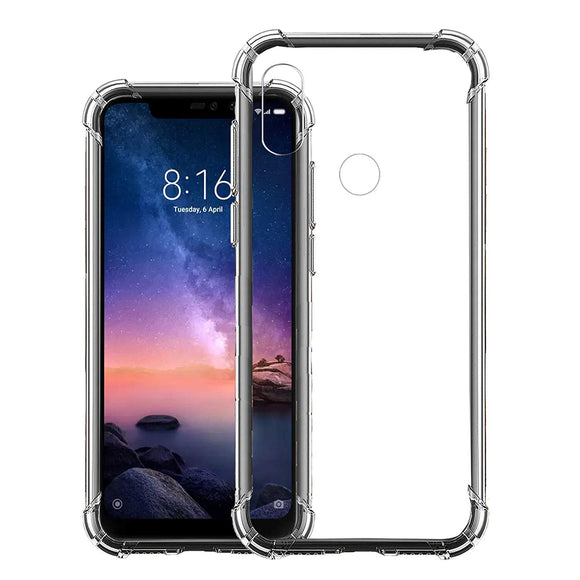 YOFO Shockproof Back Cover for Redmi Note 6Pro (Transparent)
