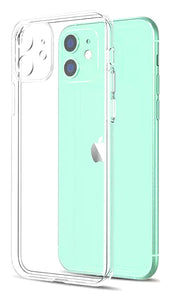 YOFO Back Cover for iPhone 11(6.1) (Transparent) with Dust Plug & Camera Protection