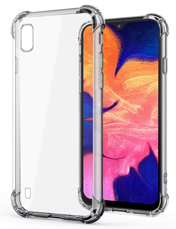 YOFO Back Cover for Samsung M10 Shockproof TPU Cushioned Edges (Transparent)