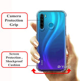 YOFO Rubber Full Protection Back Cover for MI Redmi Note 8 (Transparent) Shockproof