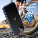 YOFO Matte Finish Smoke Back Cover for Apple iPhone 12 Mini (5.4)-Blue
