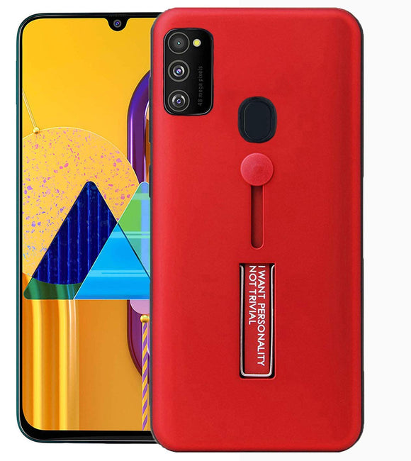 YOFO Fashion Case Full Protection Back Cover for Samsung M30s(RED)