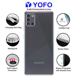 YOFO Silicon Transparent Back Cover for Samsung A31 - Camera Protection with Anti Dust Plug