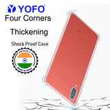 YOFO Silicon Transparent Back Cover for Samsung Galaxy M02 Shockproof Bumper Corner with Ultimate Protection