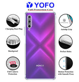 YOFO Silicon Transparent Back Cover for Honor 9X Pro - Camera Protection with Anti Dust Plug