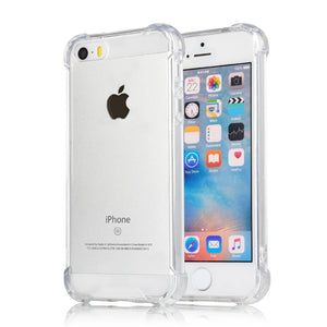 YOFO Ultra Thin Shockproof Back Cover for iPhone 5 /5S ((Transparent))