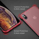 YOFO TPU Frameless case for iPhone-X (RED)