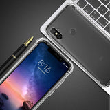 YOFO Back Cover for MI Redmi 6 Pro Shockproof TPU Cushioned Edges (Transparent)