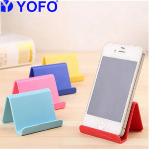 YOFO Universal Candy Color Cell Phone Support Holder Phone Stand (Assorted)-Set of 1