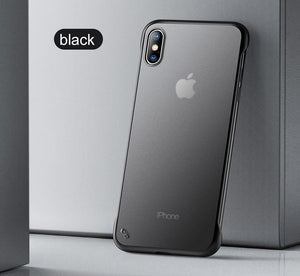 YOFO TPU Frameless case for iPhone-X (BLACK)