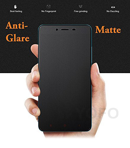 YOFO Anti Glare Matte Finish Anti-Fingerprint Screen Protector for MI Redmi 4 (Transparent)