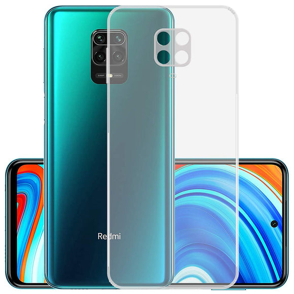YOFO Back Cover for MI Redmi Note 9 Pro / Note 9 Pro Max / M2 Pro (Transparent) with Dust Plug & Camera Protection
