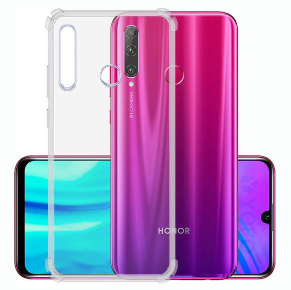 YOFO Rubber Back Cover Case for Honor 20i (Transparent) with Bumper Corner