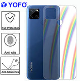 YOFO Rainbow Effect Anti Scratch Back Screen Guard for Realme C12