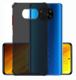 YOFO Silicon Flexible Smooth Matte Back Cover for Poco X3(Smoke)