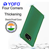 YOFO Silicon Flexible Smooth Matte Back Cover for Poco X3(Green)
