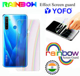YOFO Rainbow Effect Anti Scratch Back Screen Guard for Realme 5