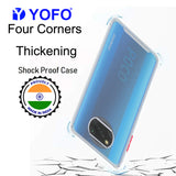 YOFO Silicon Flexible Smooth Matte Back Cover for Poco X3(Transparent)