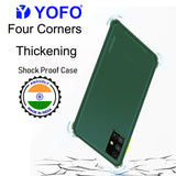 YOFO Silicon Flexible Smooth Matte Back Cover for Samsung M51(Green)