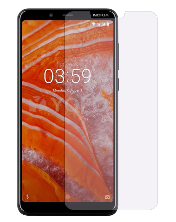 YOFO Anti Glare Matte Finish Anti-Fingerprint 9H Hammer Glass Screen Protector for Nokia 3.1 Plus