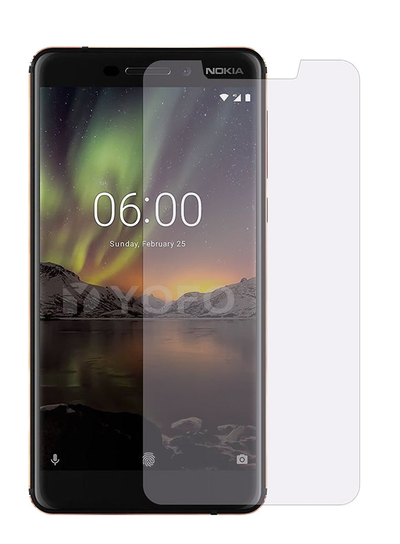 YOFO Anti Glare Matte Finish Anti-Fingerprint 9H Hammer Glass Screen Protector for Nokia 6.1