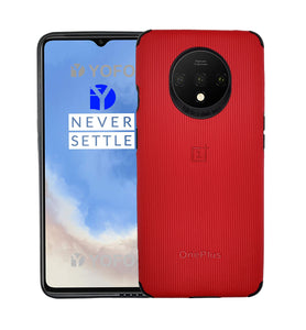 YOFO Creative Case Back Cover for OnePlus 7T Shockproof (Red)
