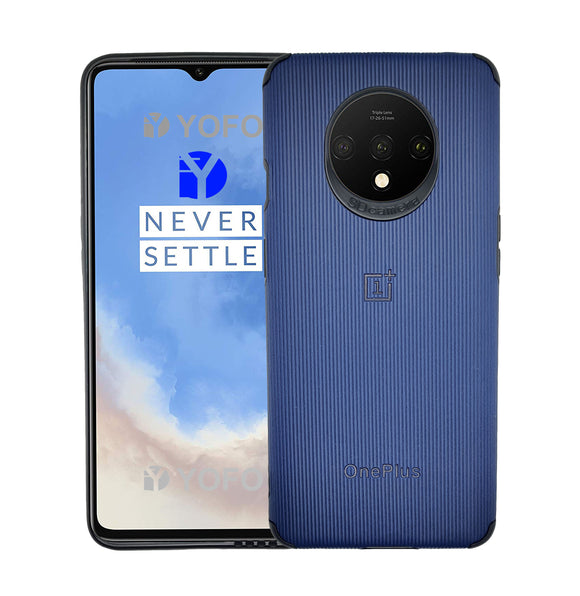 YOFO Creative Case Back Cover for OnePlus 7T Shockproof (Blue)