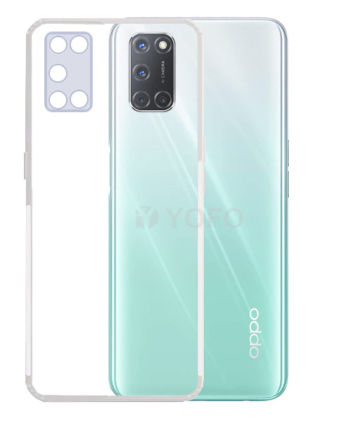 YOFO Back Cover for Oppo A52 (Transparent) with Dust Plug & Camera Protection