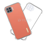 YOFO  Shockproof HD Transparent Back Cover for Oppo F17 (Transparent)