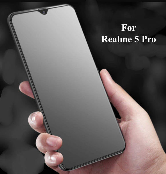 YOFO Anti Glare Matte Finish Anti-Fingerprint 9H Hammer Glass Screen Protector for Realme 5 , Realme 5S , Realme 5i