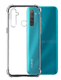 YOFO Rubber Shockproof Soft Transparent Back Cover for Realme 5Pro- All Sides Protection Case