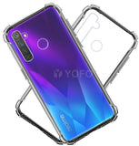 YOFO Rubber Shockproof Soft Transparent Back Cover for Realme 5 / Realme 5i / Narzo 10- All Sides Protection Case