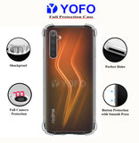 YOFO Rubber Shockproof Soft Transparent Back Cover for REALME 6 - All Sides Protection Case