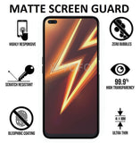 YOFO Anti Glare Matte Finish Anti-Fingerprint 9H Hammer Screen Protector for Realme 6 Pro (Full Edge to Edge)