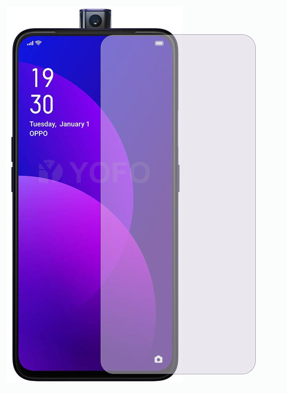YOFO Anti Glare Matte Finish Anti-Fingerprint 9H Hammer Glass Screen Protector for Realme X